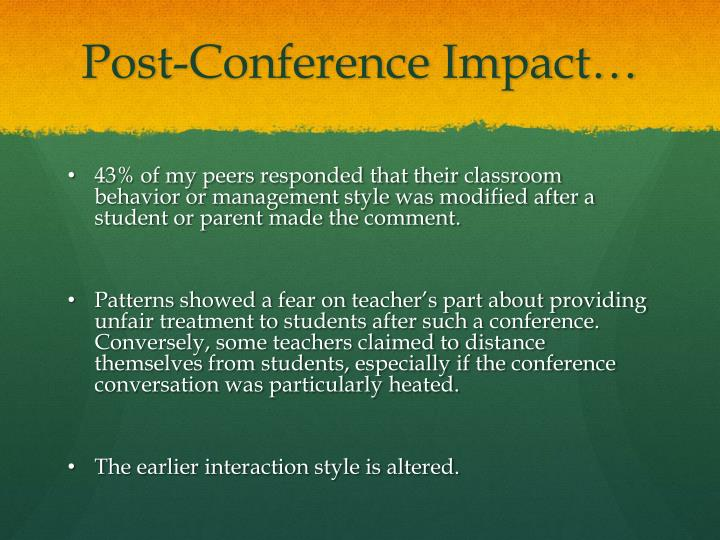 Post-Conference Impact…