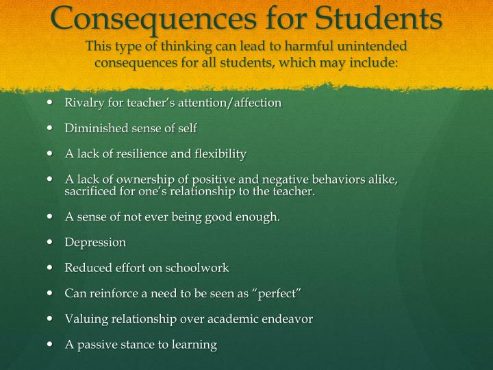 Consequences for Students