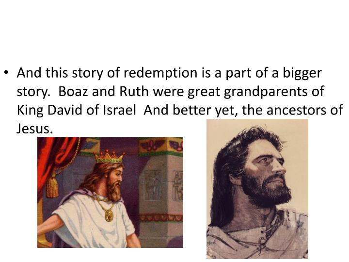 And this story of redemption is a part of a bigger