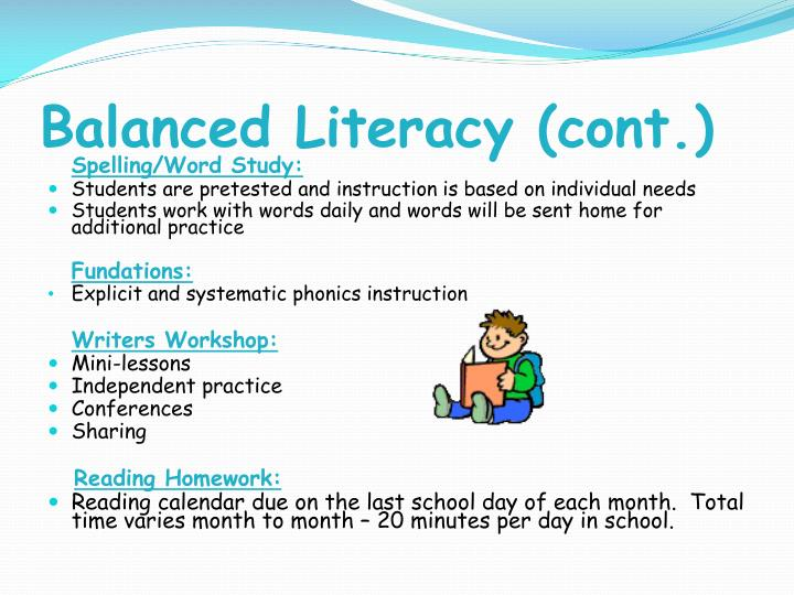 Balanced Literacy (cont.)