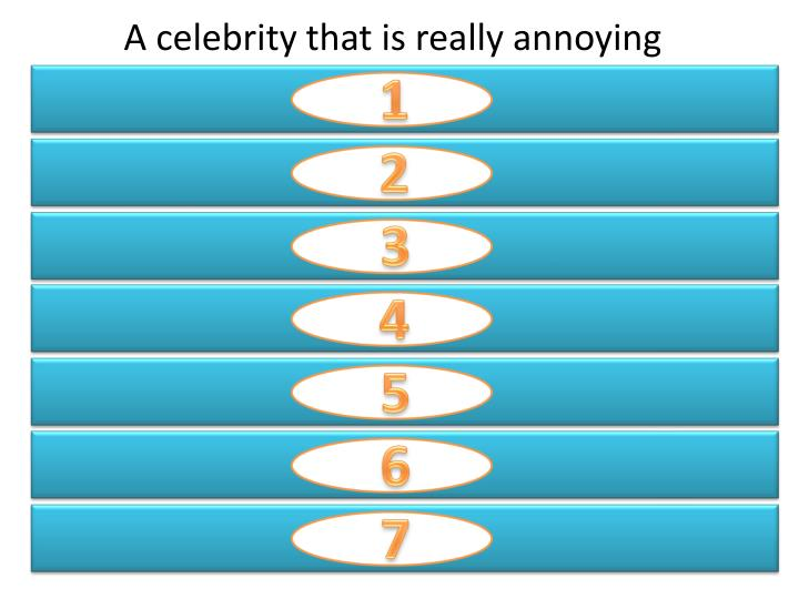 A celebrity that is really annoying