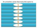 an unrealistic career that many kids aspire to