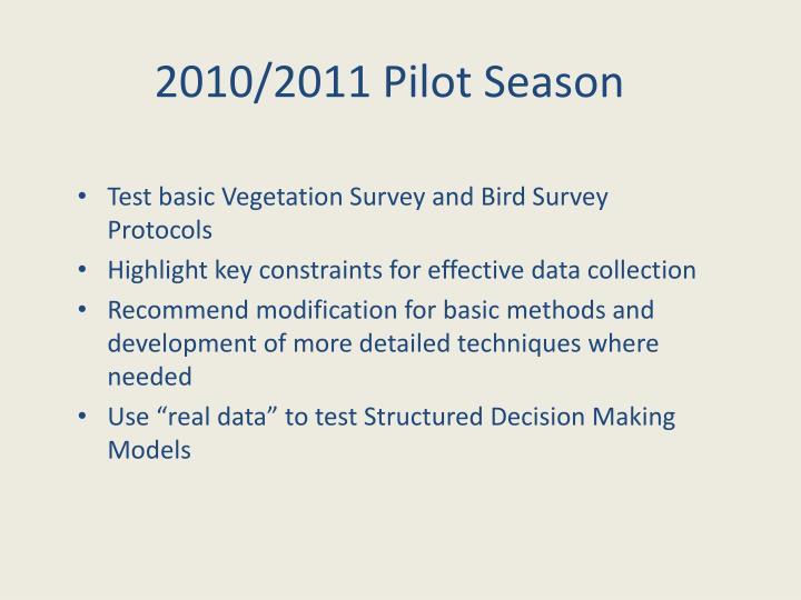 2010/2011 Pilot Season