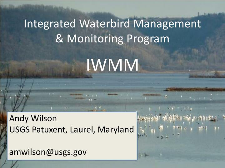 Integrated Waterbird Management