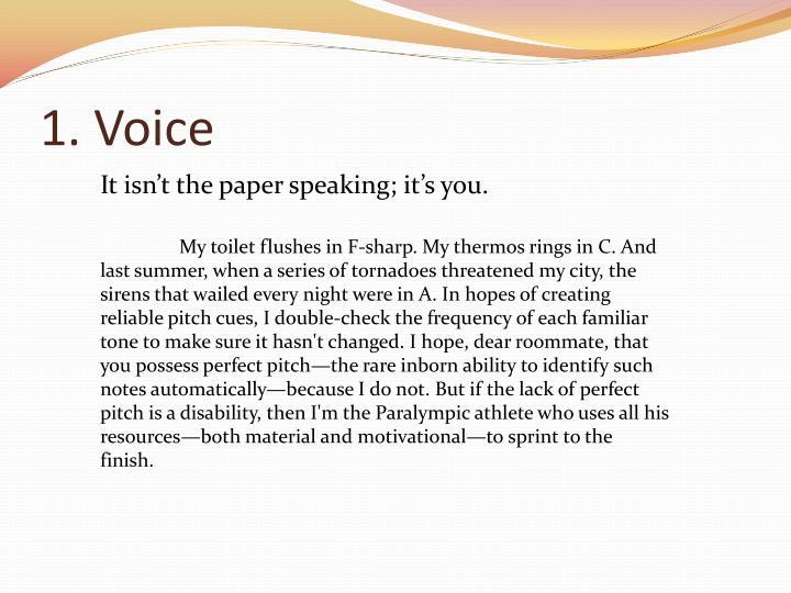 1. Voice
