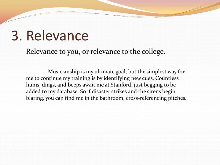 3. Relevance