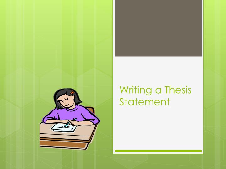 books on writing thesis statements