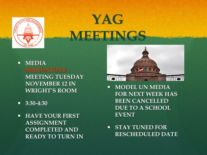 YAG MEETINGS