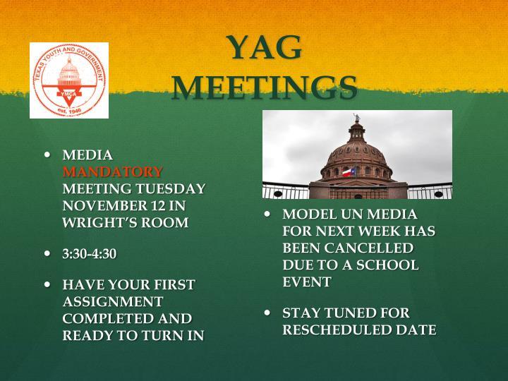 YAG MEETINGS