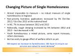 changing picture of single homelessness