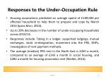 responses to the under occupation rule