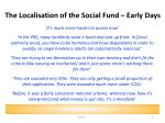 the localisation of the social fund early days
