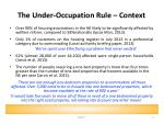 the under occupation rule context