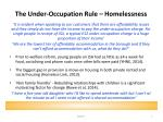 the under occupation rule homelessness
