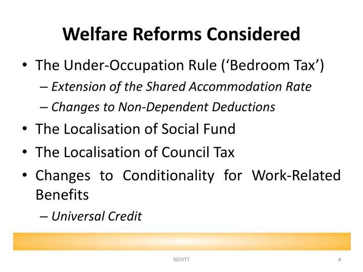 Welfare Reforms