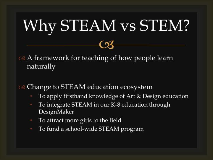 Why steam vs stem