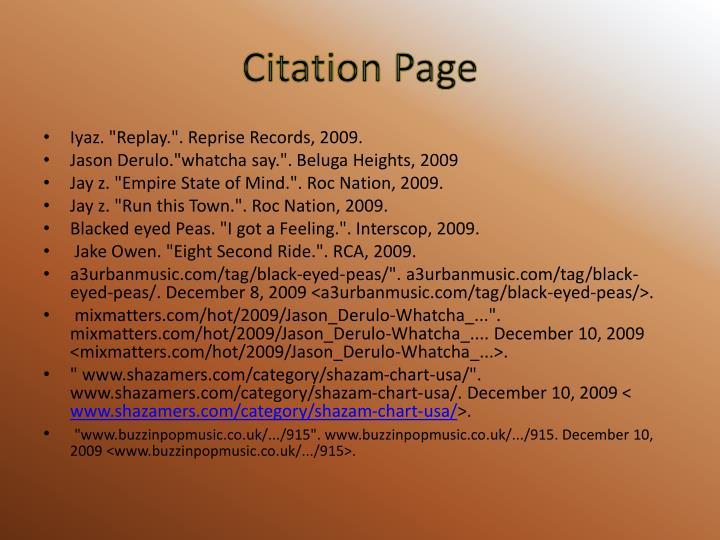 Citation Page