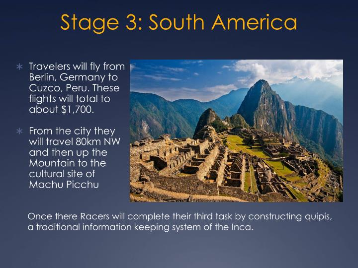 Stage 3: South America