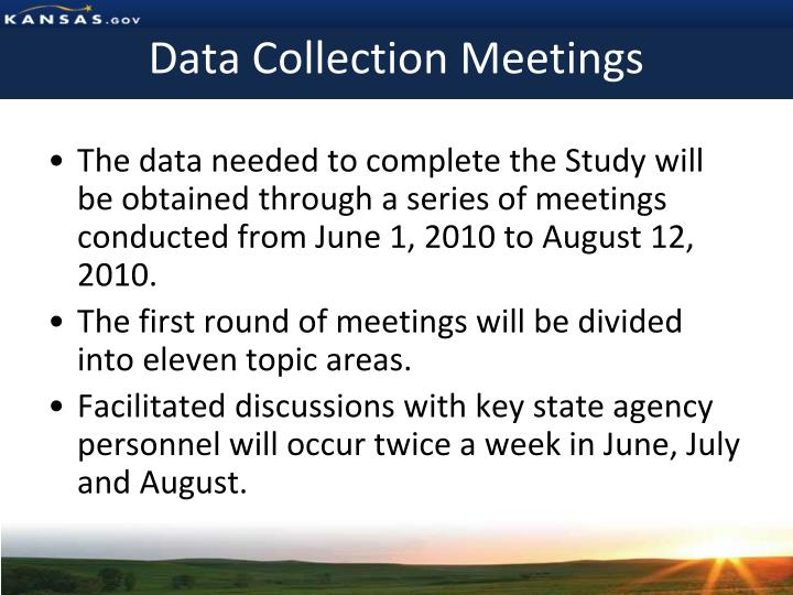 Data Collection Meetings