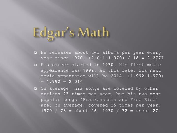 Edgar's Math