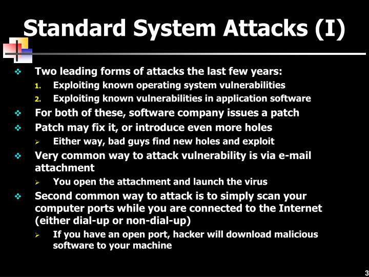 Standard System Attacks (I)