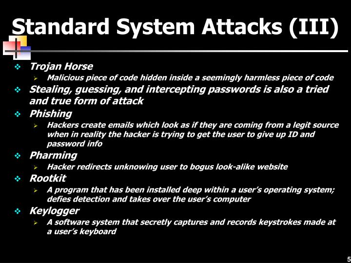 Standard System Attacks (