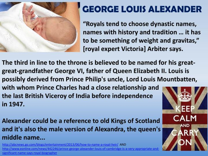 GEORGE LOUIS ALEXANDER