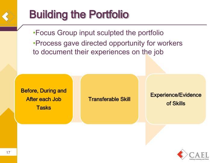 Building the Portfolio