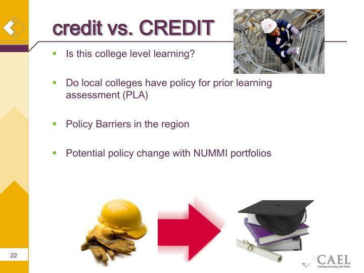 credit vs. CREDIT