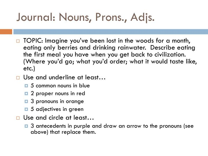 Journal: Nouns,