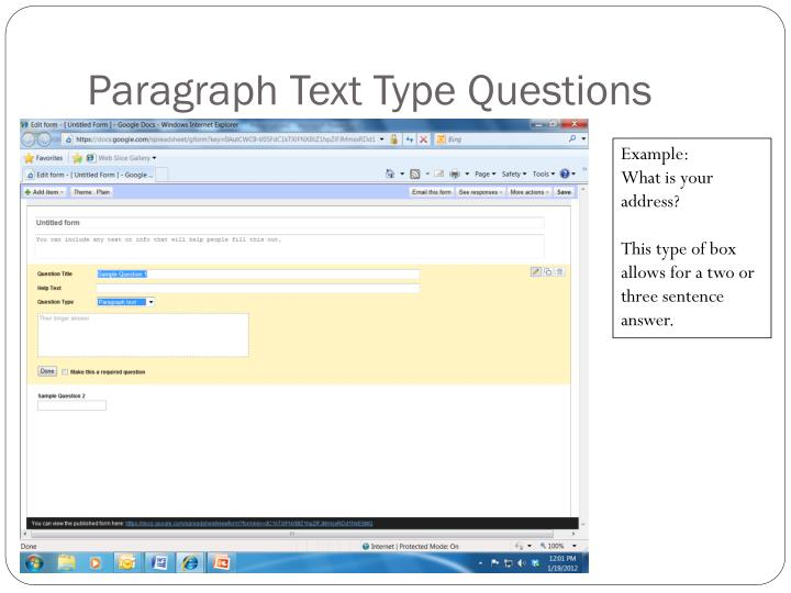 Paragraph Text Type Questions