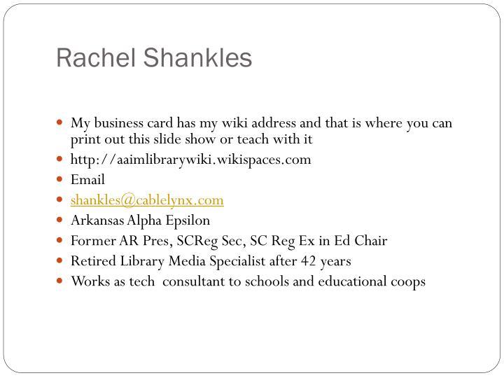 Rachel Shankles