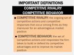 competitive rivalry competitive behavior