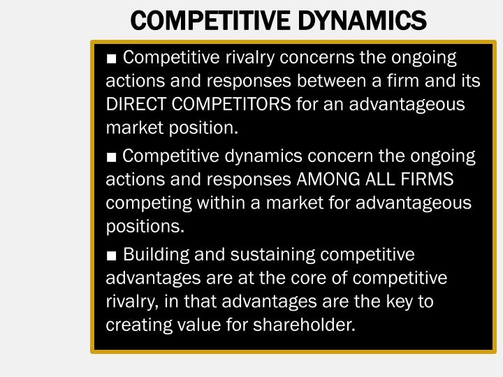 COMPETITIVE DYNAMICS