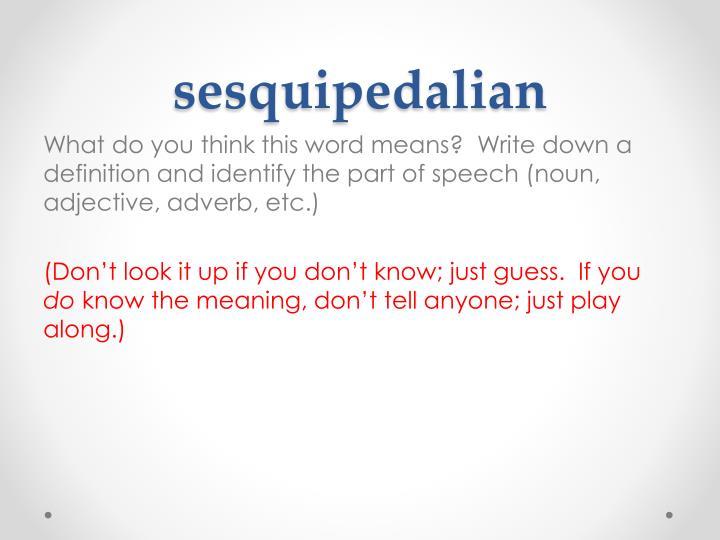 sesquipedalian