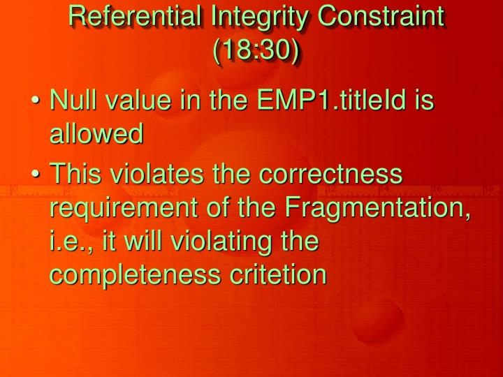 Referential Integrity Constraint (18:30)