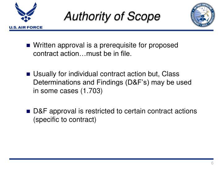 Authority of Scope