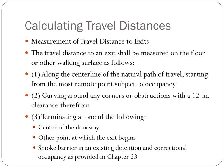 Calculating Travel Distances