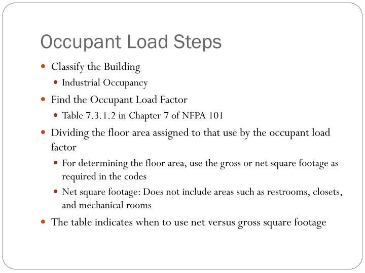 Occupant Load Steps