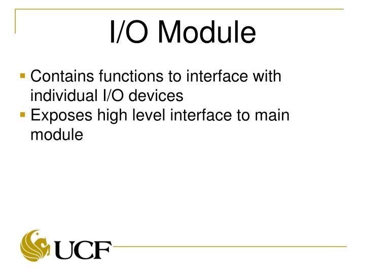 I/O Module