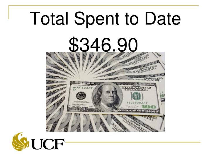 Total Spent to