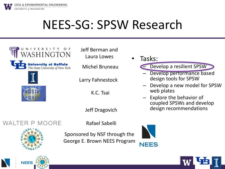 NEES-SG: SPSW Research