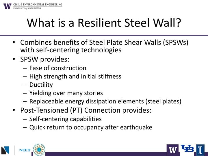 What is a resilient steel wall