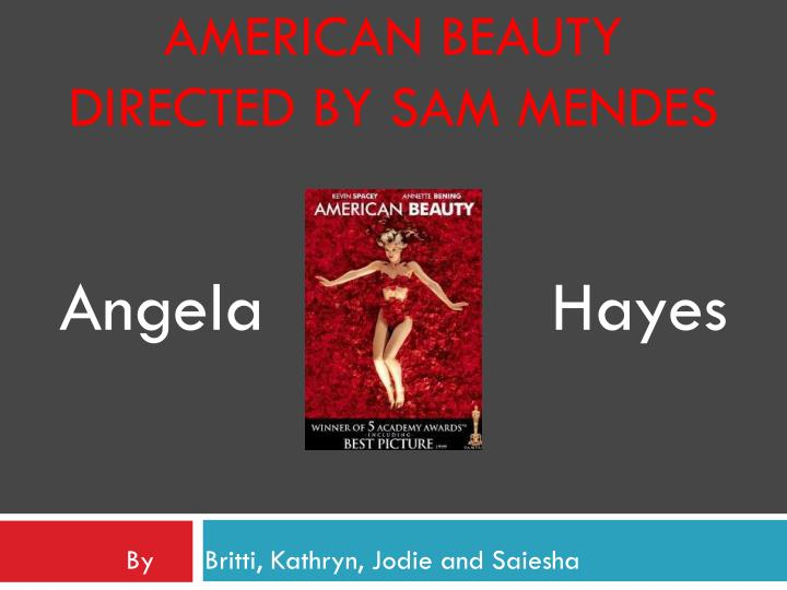 American beauty directed by sam mendes