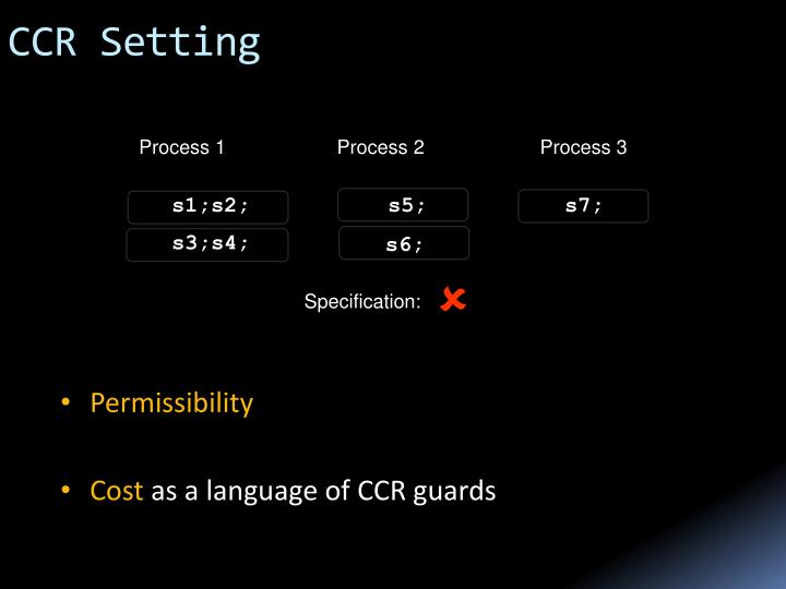 CCR Setting