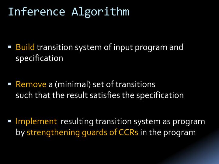 Inference Algorithm
