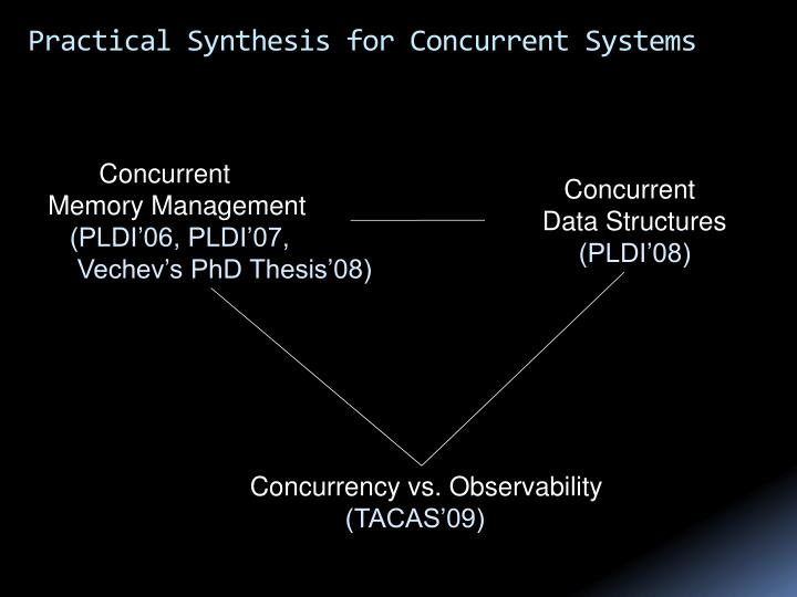 Practical synthesis for concurrent systems