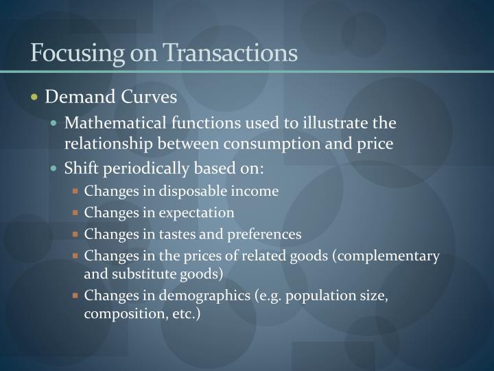 Focusing on Transactions