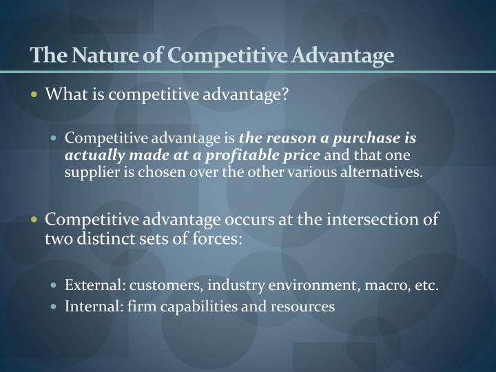 The Nature of Competitive Advantage