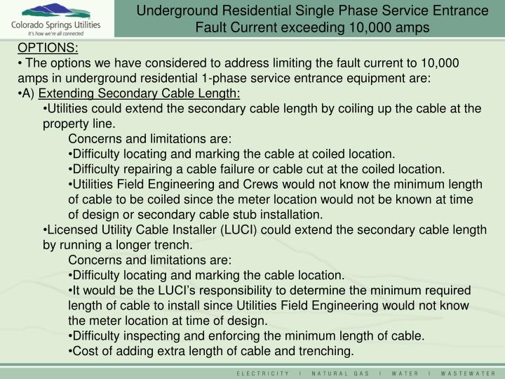 Single Phase Service : Ppt underground residential single phase service